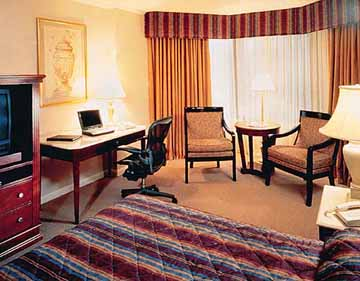 Guestroom at the Wyndham Hotel in Washington D.C.