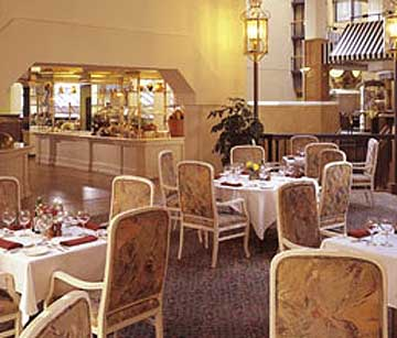 Restaurant at the Wyndham Hotel in Washington D.C.